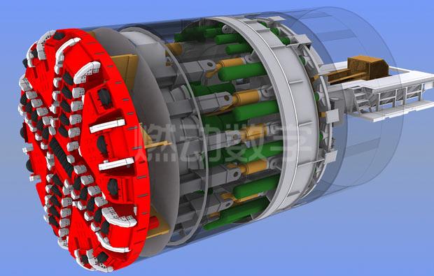 隧道盾构机三维动画制