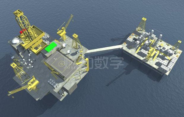 石油勘探开采三维动画