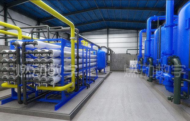 工业水处理工艺流程三维动画制作/海水淡化系统仿真演示