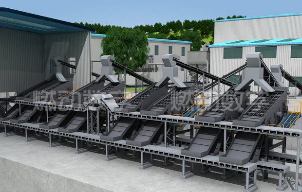 麻石机制砂生产线三维