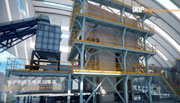城市生活垃圾环保再生发电生产线三维动画演示