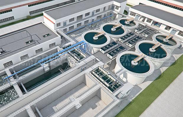 环保废污水处理工艺流程三维动画仿真演示