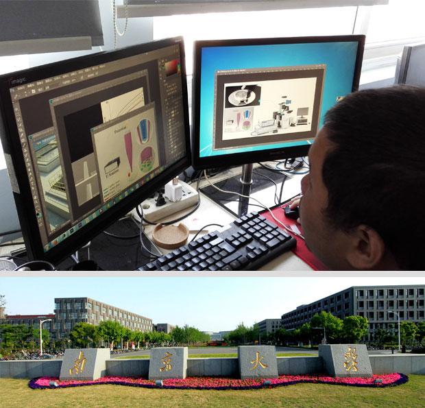 完成南大化学化工学院单细胞电化学分析模块三维可视化仿真