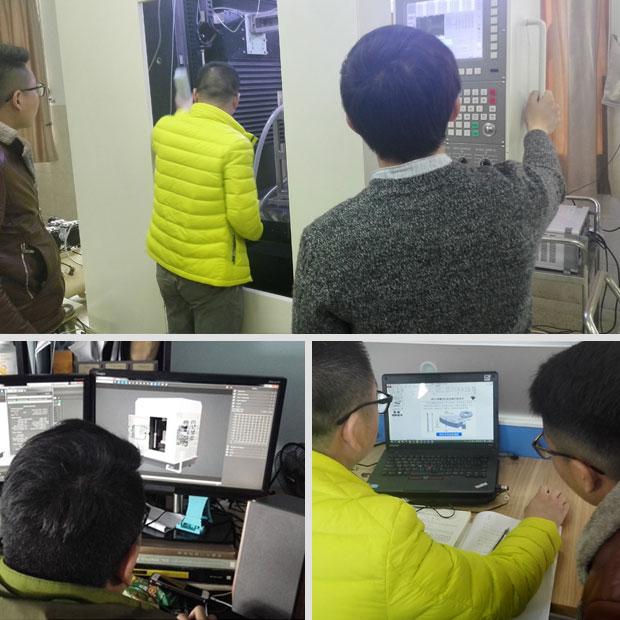 科研项目榫头/榫槽线电极电解切割技术三维可视化进行中