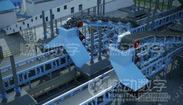 低阶煤清洁高效利用工艺流程三维演示动画