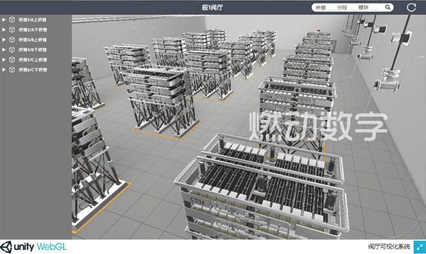 一体化智能监视系统柔直换流阀阀厅阀塔三维可视化及数据通讯
