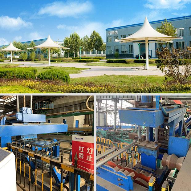 签约万润达公司热镀锌钢管生产线工艺流程演示三维动画